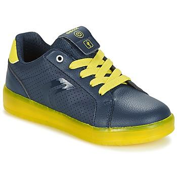 Sapatos Rapaz Sapatilhas Geox J KOMMODOR B.B Marinho / Amarelo