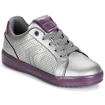 Sapatos Rapariga Sapatilhas Geox J KOMMODOR G.A Prata / Ameixa