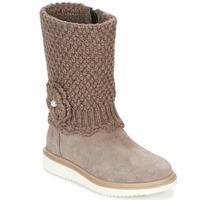 Sapatos Rapariga Botas Geox J THYMAR G. F Bege
