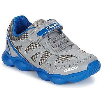 Sapatos Rapaz Sapatilhas Geox J MUNFREY B. A Cinza / Azul