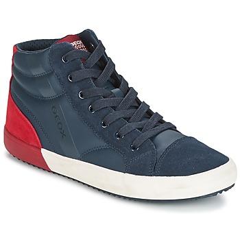 Sapatos Rapaz Sapatilhas de cano-alto Geox J ALONISSO B. A Marinho / Vermelho