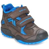 Sapatos Rapaz Sapatilhas Geox J N.SAVAGE B.B Castanho / Azul