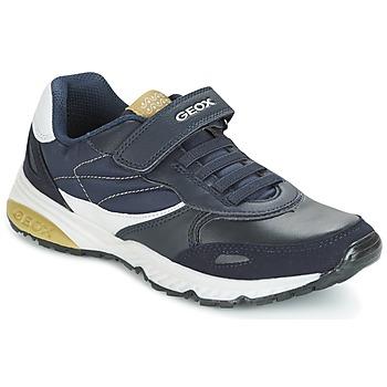 Sapatos Rapaz Sapatilhas Geox J BERNIE A Marinho / Verde