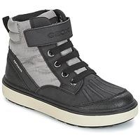 Sapatos Rapaz Sapatilhas de cano-alto Geox J MATT.B ABX B Cinza / Preto