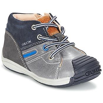 Sapatos Rapaz Sapatilhas de cano-alto Geox B TOLEDO B. A Cinza / Marinho