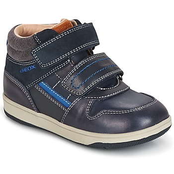 Sapatos Rapaz Sapatilhas de cano-alto Geox B NEW FLICK B. A Marinho / Azul