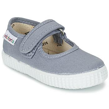 Sapatos Rapariga Sabrinas Victoria MERCEDES VELCRO LONA Cinza