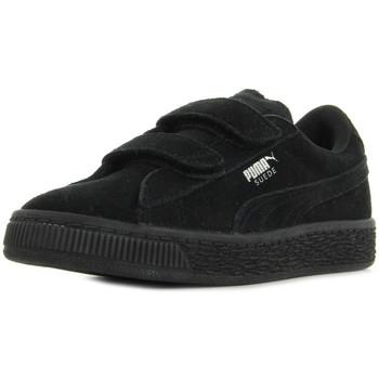 Sapatos Criança Sapatilhas Puma Suede 2 straps PS Preto