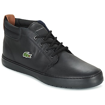 Sapatos Homem Sapatilhas de cano-alto Lacoste AMPTHILL TERRA Preto