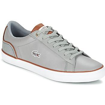 Sapatos Homem Sapatilhas Lacoste LEROND 3 Cinza / Castanho