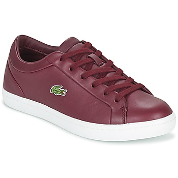 Sapatos Mulher Sapatilhas Lacoste STRAIGHTSET LACE Bordô