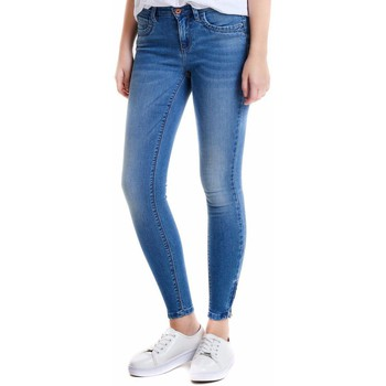 Textil Mulher Gangas Skinny Only KENDELL azul