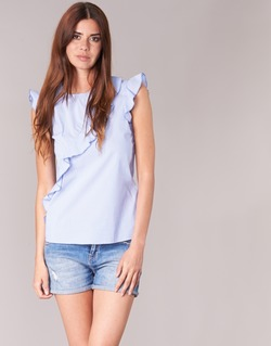 Textil Mulher Tops / Blusas Morgan MARFIZ Azul / Branco