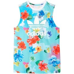 Textil Rapariga Tops sem mangas adidas Originals J FLWR L TANK MULTICOLOR multicolor
