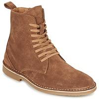 Sapatos Homem Botas baixas Selected ROYCE HIGH Conhaque