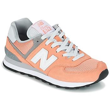 Sapatos Mulher Sapatilhas New Balance WL574 Pêssego
