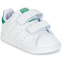 Sapatos Rapaz Sapatilhas adidas Originals STAN SMITH CF I Branco / Verde