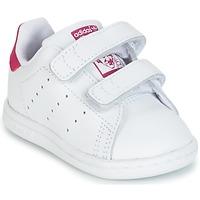 Sapatos Rapariga Sapatilhas adidas Originals STAN SMITH CF I Branco / Rosa