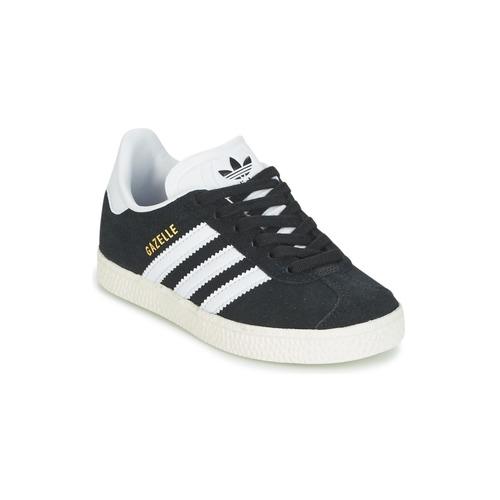 Sapatos Rapaz Sapatilhas adidas Originals GAZELLE C Preto