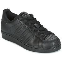 Sapatos Criança Sapatilhas adidas Originals SUPERSTAR Preto