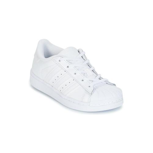 Sapatos Criança Sapatilhas adidas Originals SUPERTSAR Branco