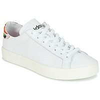 Sapatos Mulher Sapatilhas adidas Originals Court Vantage Branco / Flor