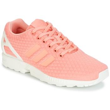dff579a9d7f Sapatos Mulher Sapatilhas adidas Originals ZX FLUX W Rosa   Branco