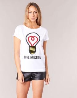 Textil Mulher T-Shirt mangas curtas Love Moschino W4F3038E1512 Branco