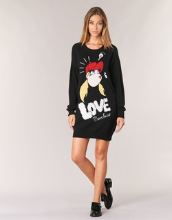 Textil Mulher Vestidos curtos Love Moschino WS45S01X0608 Preto