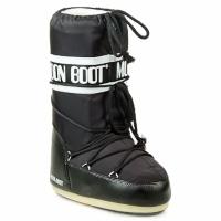 Sapatos Mulher Botas de neve Moon Boot MOON BOOT NYLON Preto