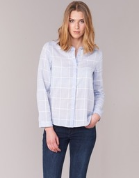 Textil Mulher camisas Casual Attitude GAMOU Azul / Branco