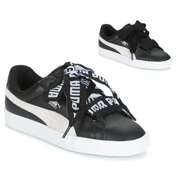 Sapatos Mulher Sapatilhas Puma Basket Heart DE Preto / Branco