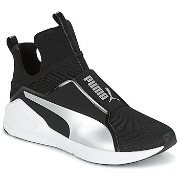 Sapatos Mulher Sapatilhas de cano-alto Puma FIERCE core Preto