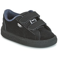 Sapatos Rapaz Sapatilhas Puma SUEDE BATMAN V INF Preto