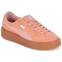 Sapatos Mulher Sapatilhas Puma Suede Platform Core Gum Rosa