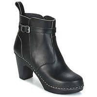 Sapatos Mulher Botins Swedish hasbeens HIGH HEELED JODHPUR Preto