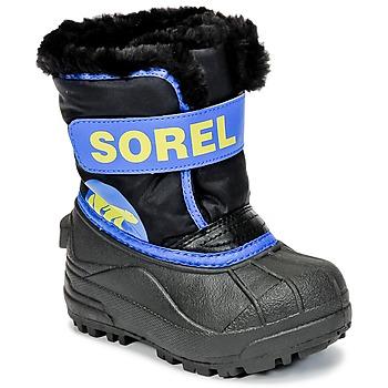 Sapatos Criança Botas de neve Sorel CHILDRENS SNOW COMMANDER Preto / Azul