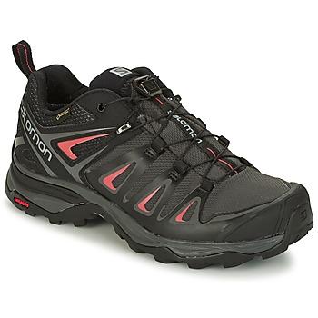 Sapatos Mulher Sapatos de caminhada Salomon X ULTRA 3 GTX® Preto / Vermelho