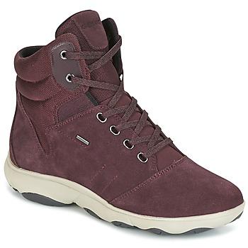 Sapatos Mulher Sapatilhas de cano-alto Geox D NEBULA 4 X 4 B ABX Bordô