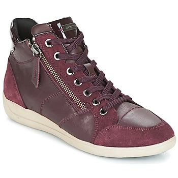 Sapatos Mulher Sapatilhas de cano-alto Geox D MYRIA Bordô
