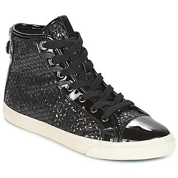 Sapatos Mulher Sapatilhas de cano-alto Geox D NEW CLUB Preto