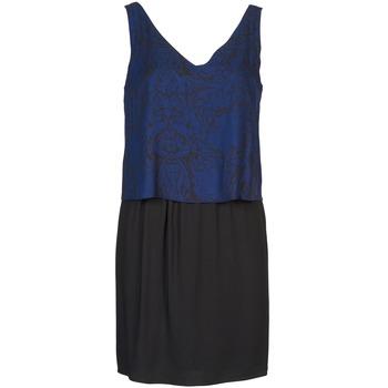 Textil Mulher Vestidos curtos Naf Naf LORRICE Preto / Azul