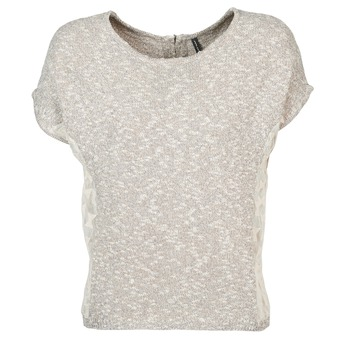 Textil Mulher T-Shirt mangas curtas Naf Naf MILLON Cinza