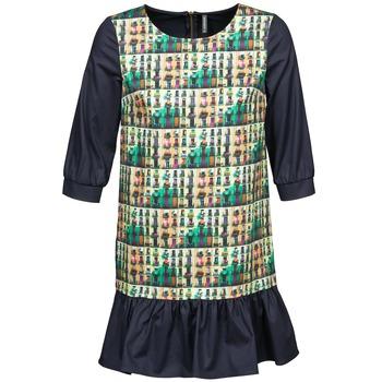 Textil Mulher Vestidos curtos Naf Naf ECAPS Preto / Multicolor