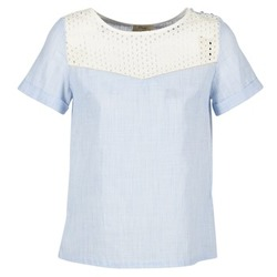 Textil Mulher Tops / Blusas Betty London GERMA Branco / Azul