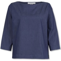 Textil Mulher Tops / Blusas Gant Denin Indigo Shirt Azul