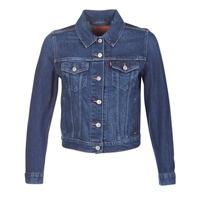 Textil Mulher casacos de ganga Levi's ORIGINAL TRUCKER Azul / Ganga