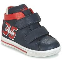 Sapatos Rapaz Sapatilhas de cano-alto Mod'8 STARIUS Marinho / Vermelho