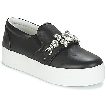 Sapatos Mulher Slip on Marc Jacobs WRIGHT EMBELLISHED SNEAKER Preto