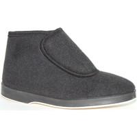 Sapatos Homem Botas baixas Made In Spain 1940 Bota em preto pano velcro Soca negro